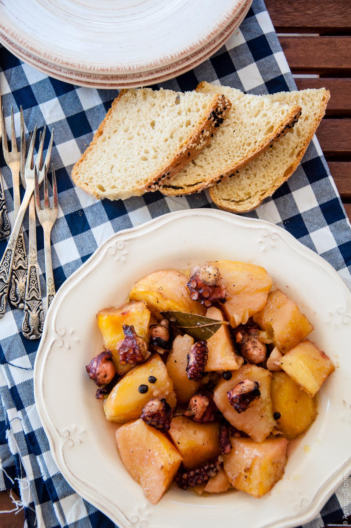 χταπόδι πατάτες στο φούρνο 1