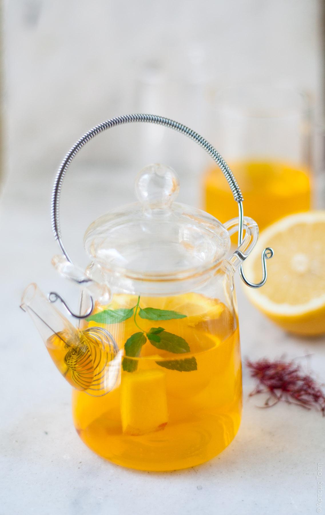 τσάι κρόκος λεμόνι μέλι 1