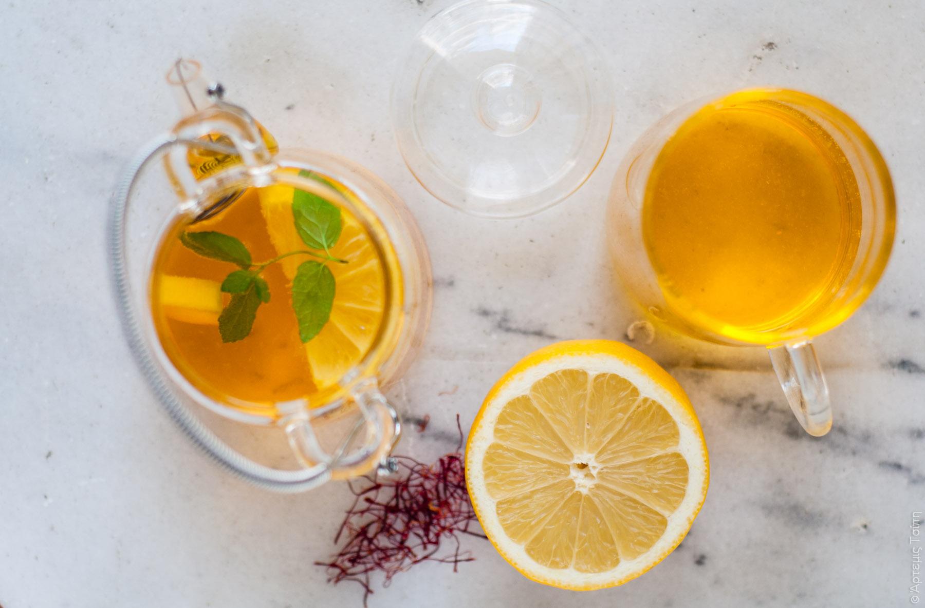 τσάι κρόκος λεμόνι μέλι 2