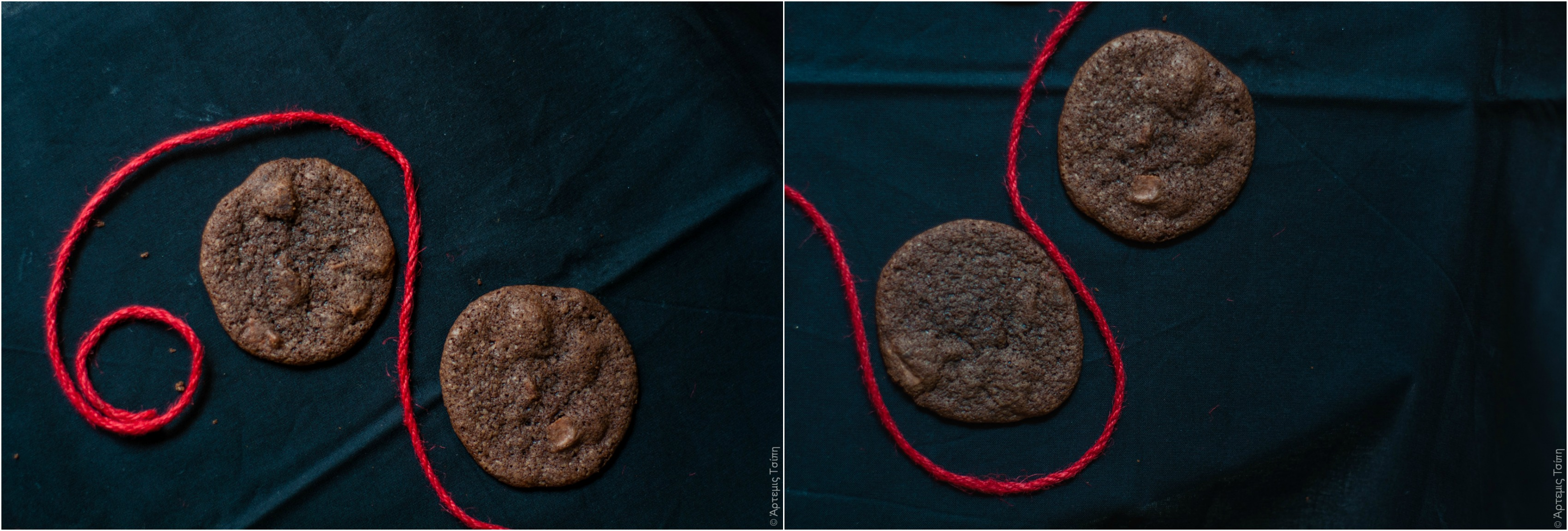 Chocolate cookies Collage